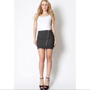 Zenana Outfitters Charcoal Mini Skirt.
